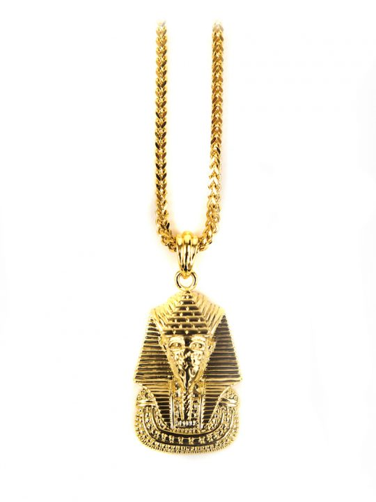 Pharaoh Pyramid Necklace, chain necklace, womens