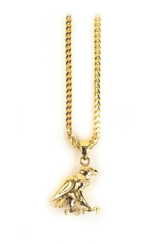 Gold Falcon Necklace Piece, gold chain necklace, necklaces