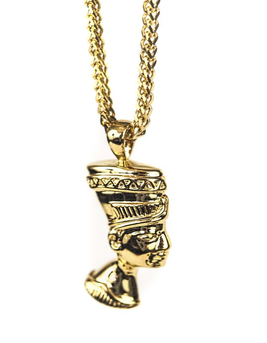 Nefertiti Necklace Piece, gold chain, necklace, gold pendant necklace, necklaces