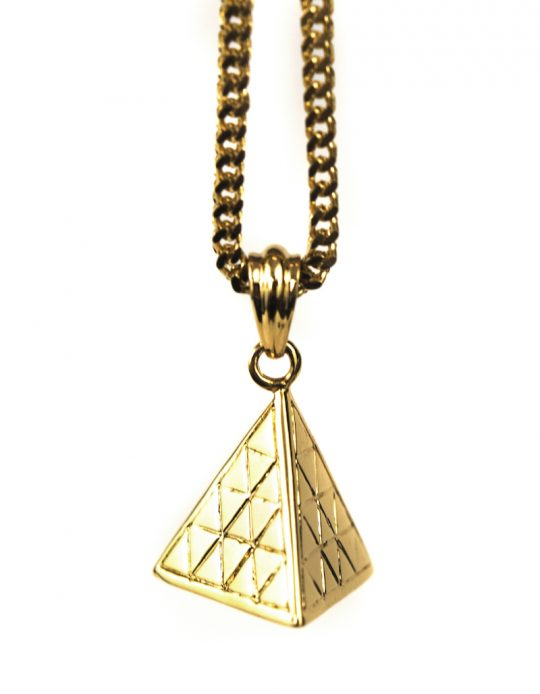 Best Micro Pyramid Piece Necklace, Gold Necklace Piece, gold necklace women