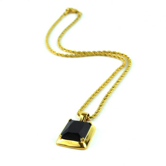 Onyx Pendant Necklace, gold necklace, diamond, necklace